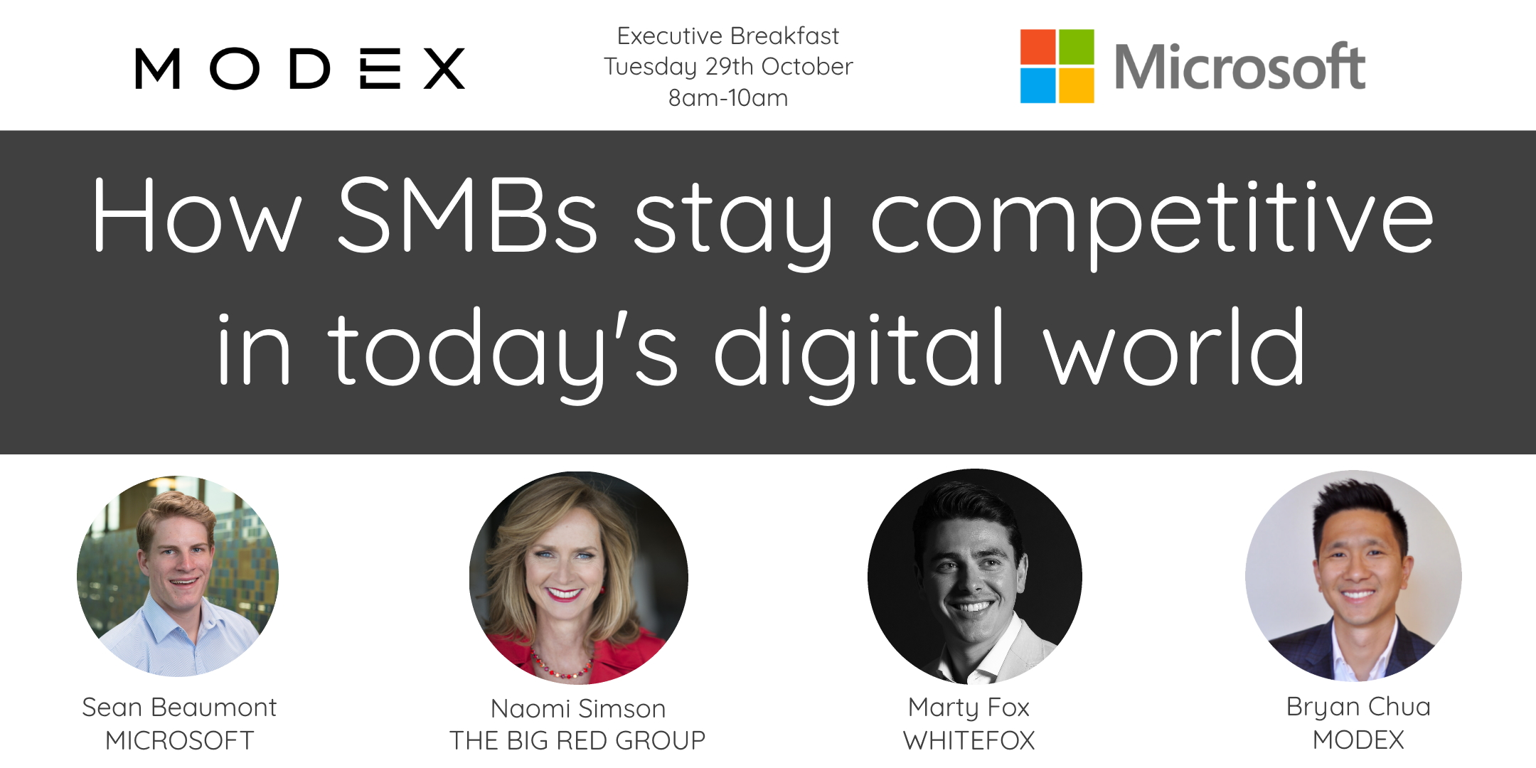 MODEX Event Banner - How SMBs stay competitive in today's digital world