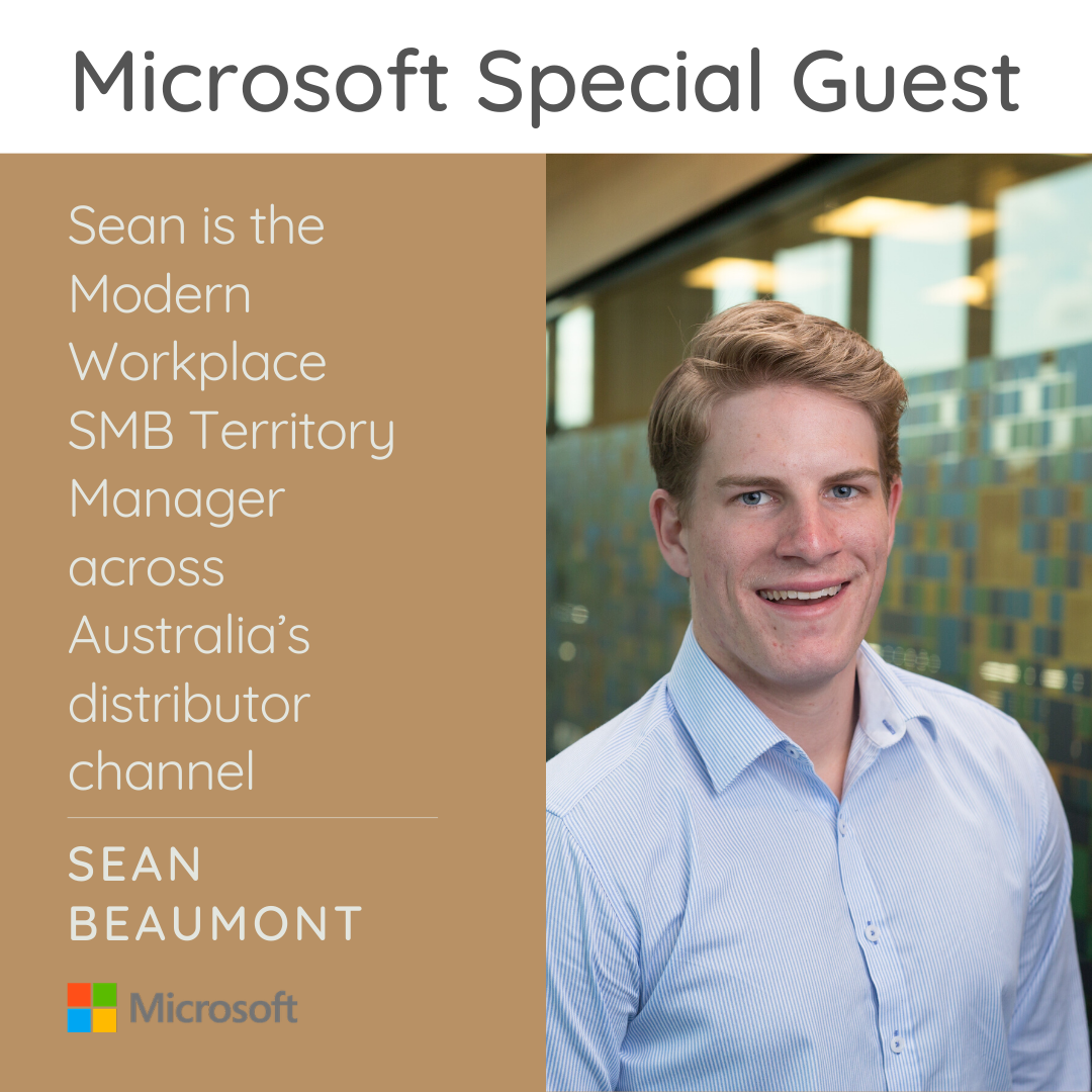 Photo of Sean Beaumont from Microsoft and a brief description of his experience