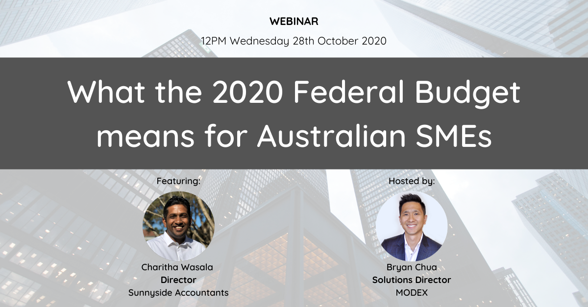 Webinar Banner - What the 2020 Federal Budget means for Australian SMEs