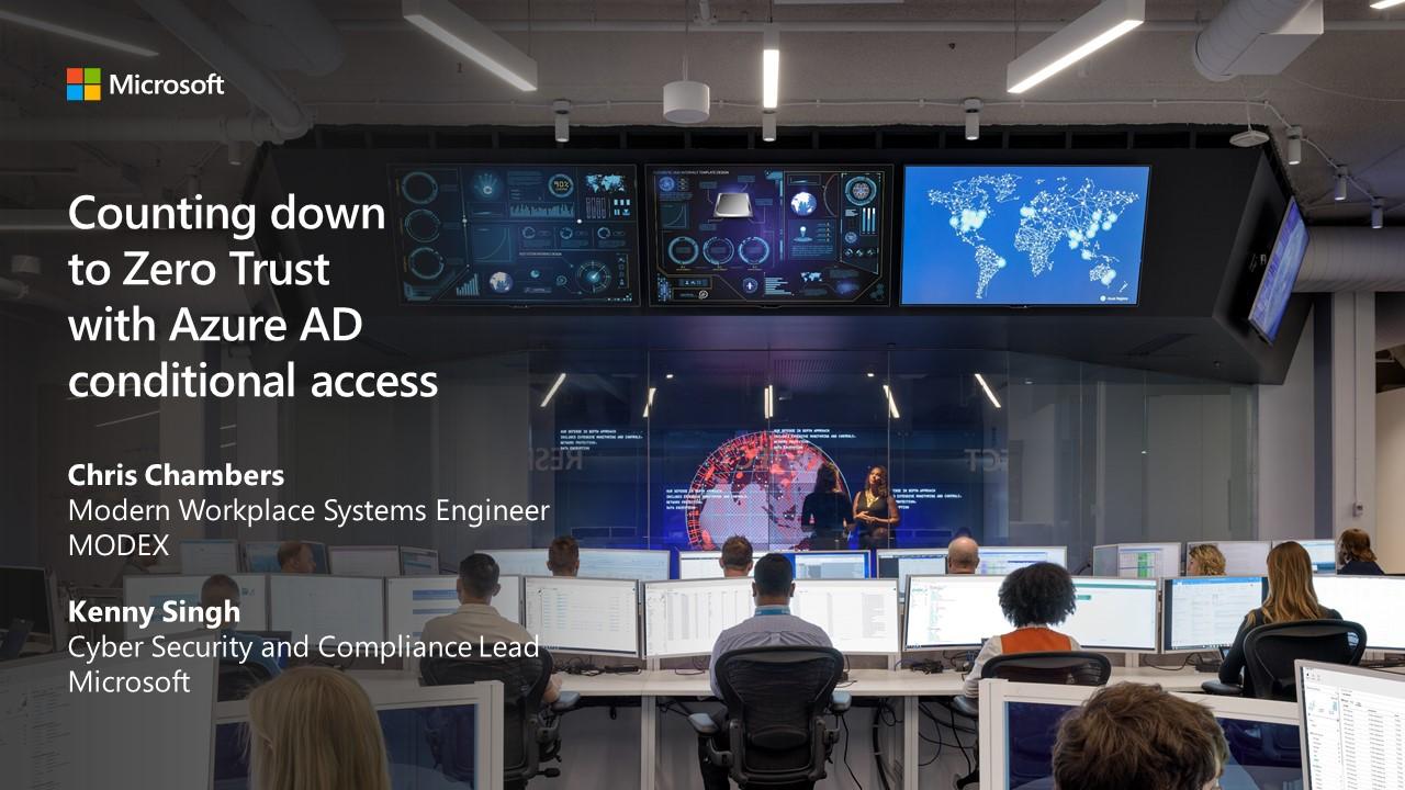 AAD Zero Trust Presentation with Microsoft