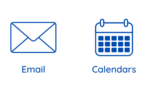 Email & Calendars icons